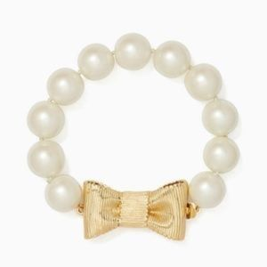 kate spade Pearl & Gold Bow Bracelet!!!